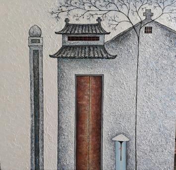 Vu Dinh Son, My hometown, , Oil on canvas, 95x100cm, Date 2017