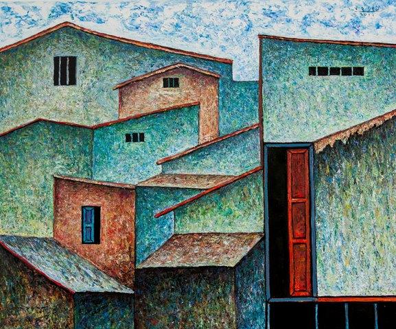 Floating Houses by Saigon Riverside, December2019